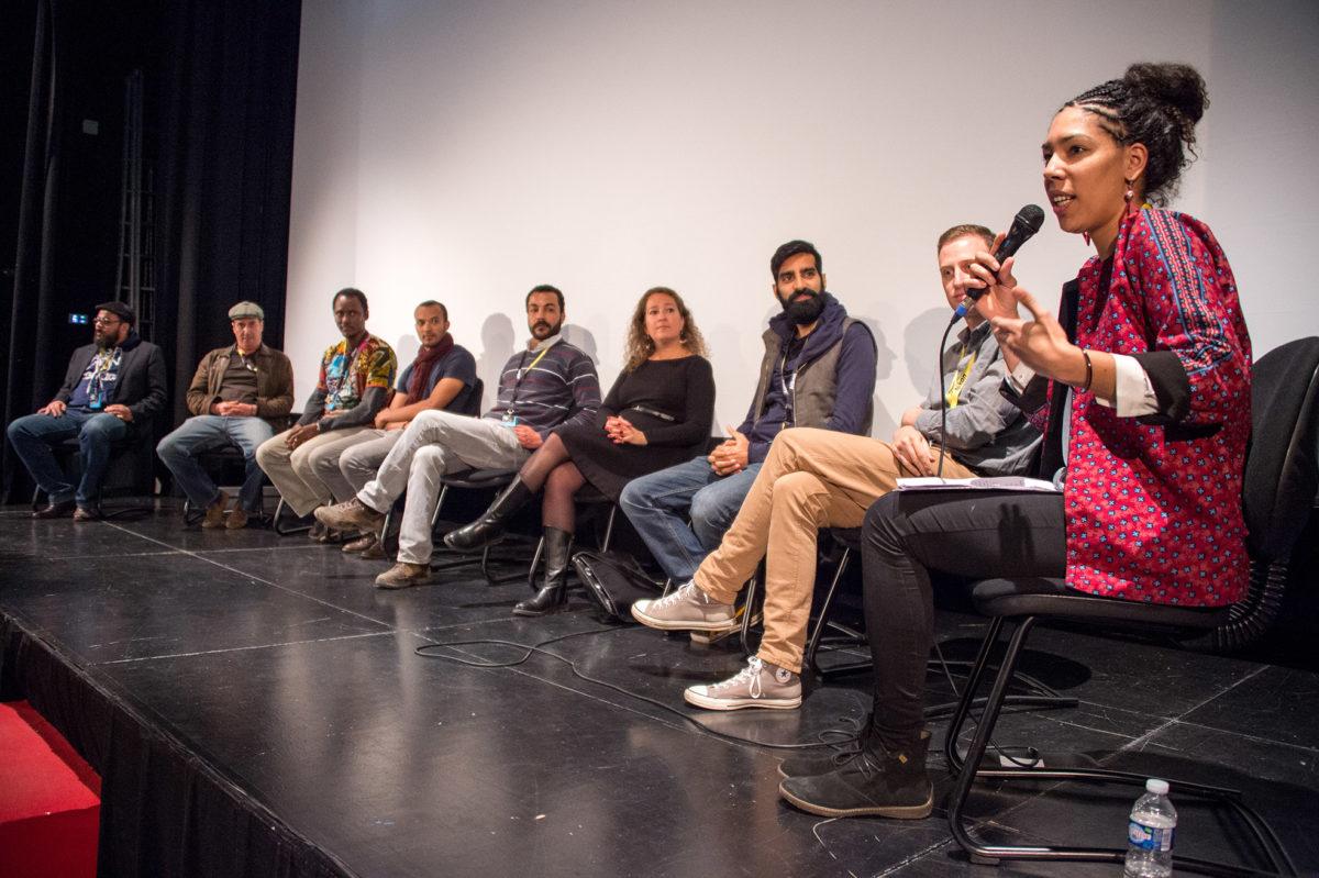 Rencontre avec les réalisateurs africains interviewés par Claire Diao © Sauve qui peut le court métrage, Juan Alonso